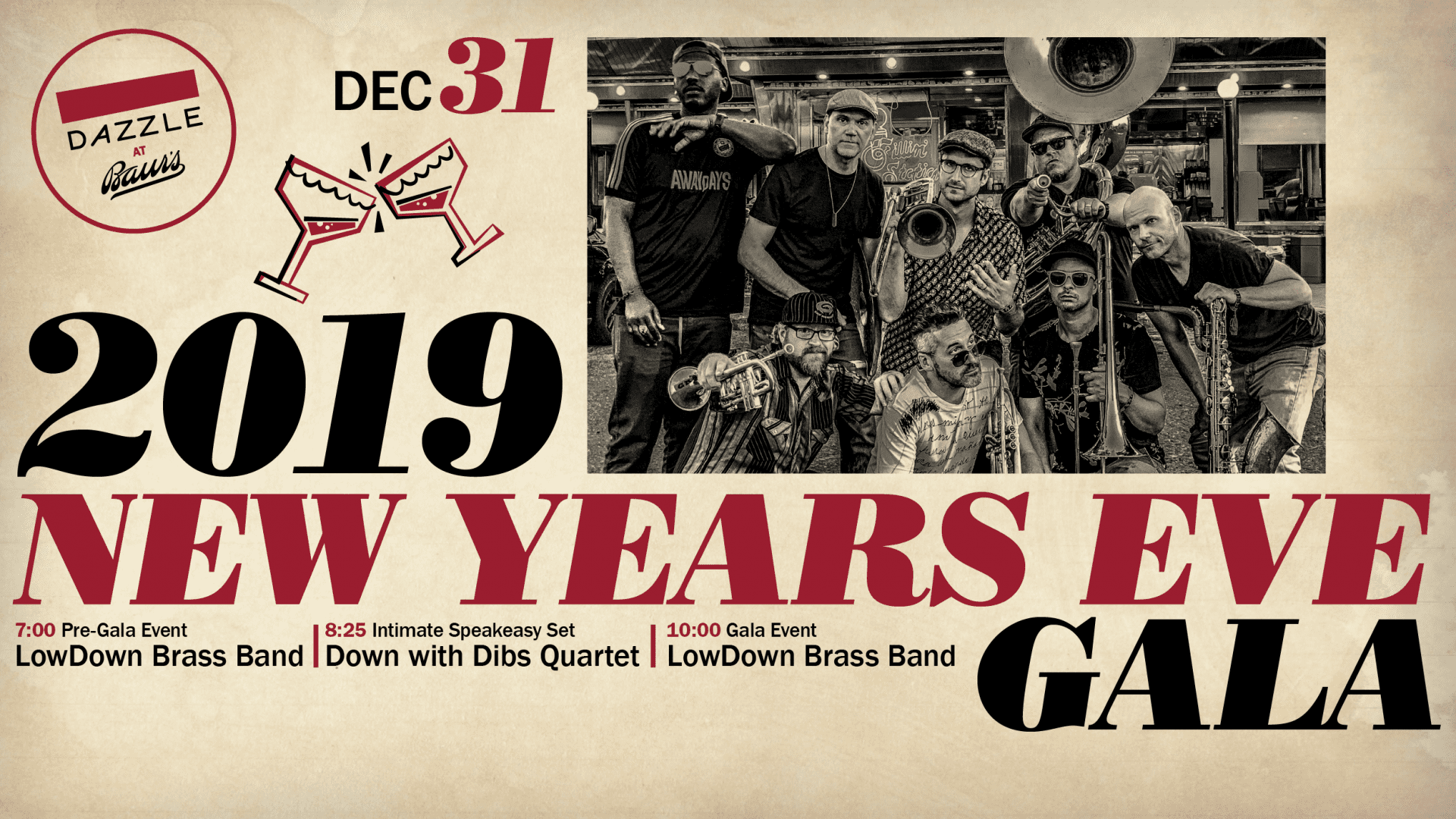 New Year's Eve Gala with LowDown Brass Band