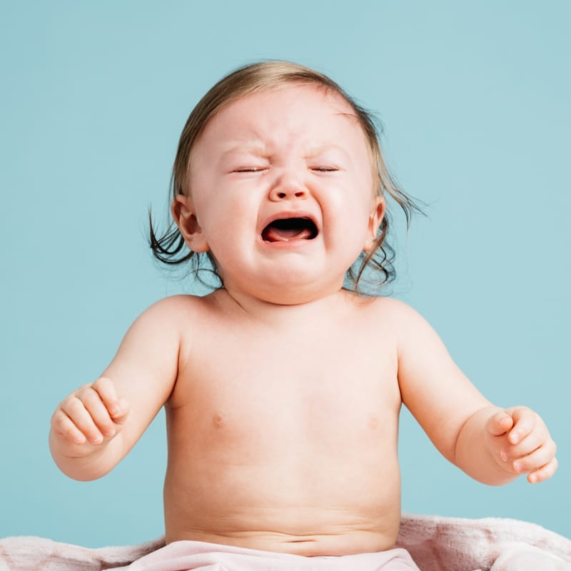 A baby crying because we are closed