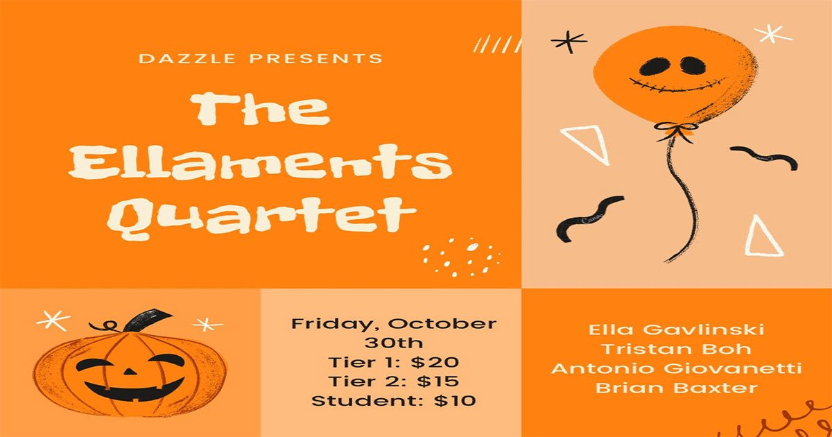 On Stage: Halloween @ the Baur's Building w/ The Elements Quartet
